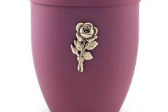 Biodegradable Urn Red with Gold Motif