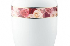 Biodegradable Urn White with Border