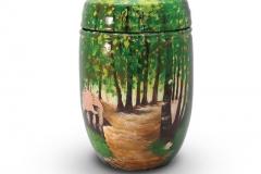 Glass Fibre Urn Woodland Scene