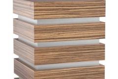 Wooden Urn Padova Edition in Zebrano