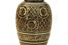 james-funeral-service-Brass-Urn-Brown-with-Gold-Decoration