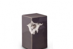 james-funeral-service-Ceramic-Urn-Grey-with-Silver-Recessed-Heart-Motif