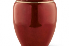 Wooden Urn Round Top in Mahogany