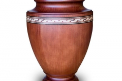 Wooden Urn With Decorative Band