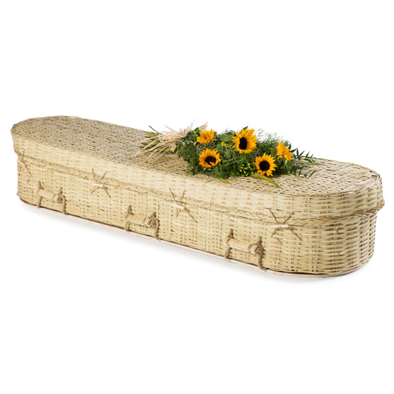 James Funeral Service Round Bamboo Coffin
