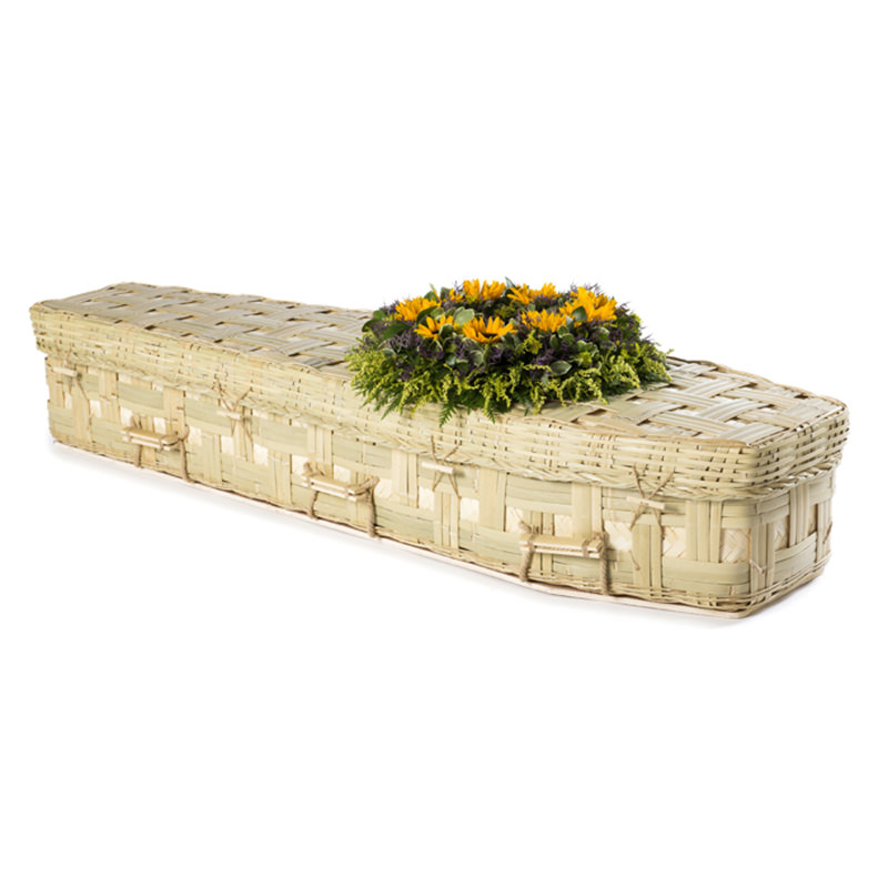 James Funeral Service Traditional Bamboo Coffin with Lattice
