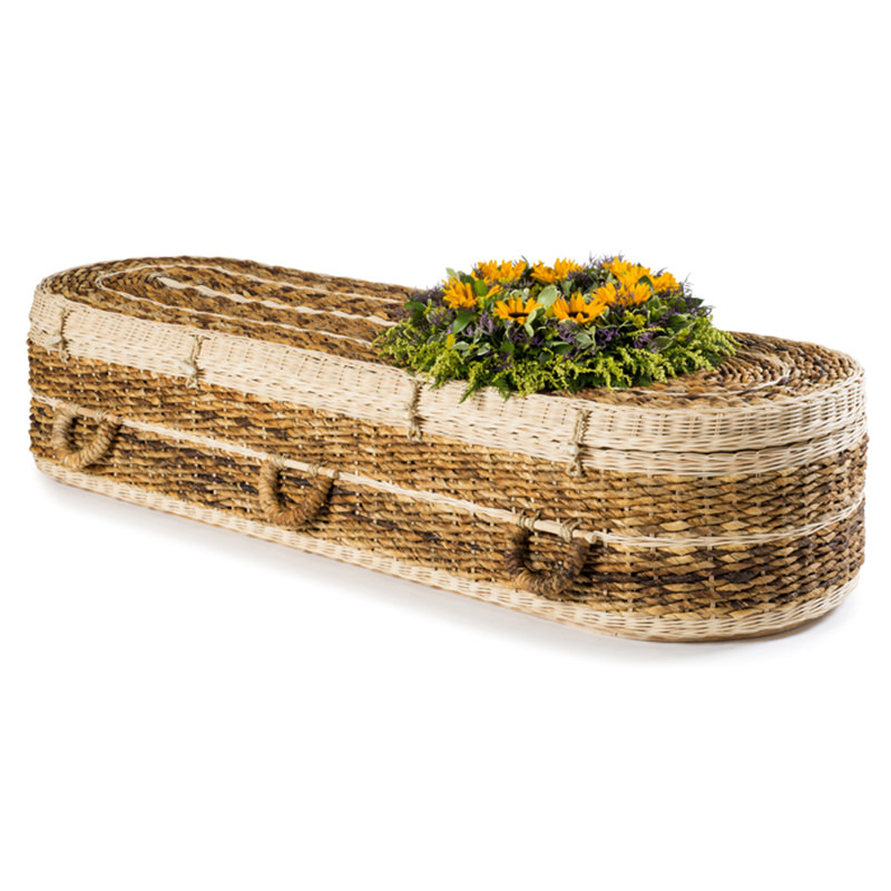 James Funeral Service Banana Leaf Round Coffin