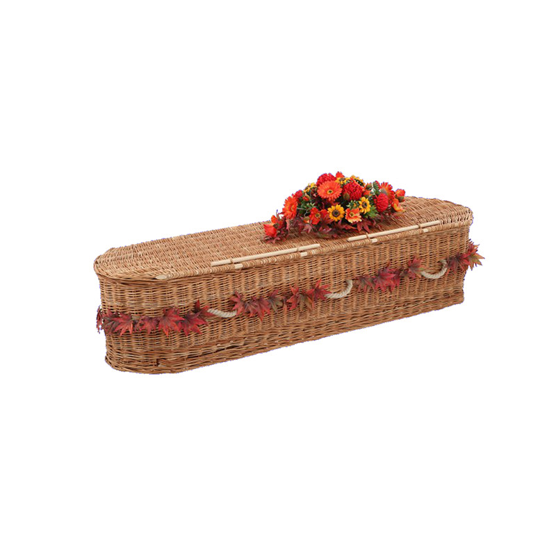 James Funeral Service Round Willow Coffin Plain Buff