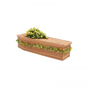 James Funeral Service Yellow Band Willow Coffin