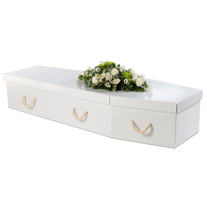 James Funeral Service Cardboard Coffin in White