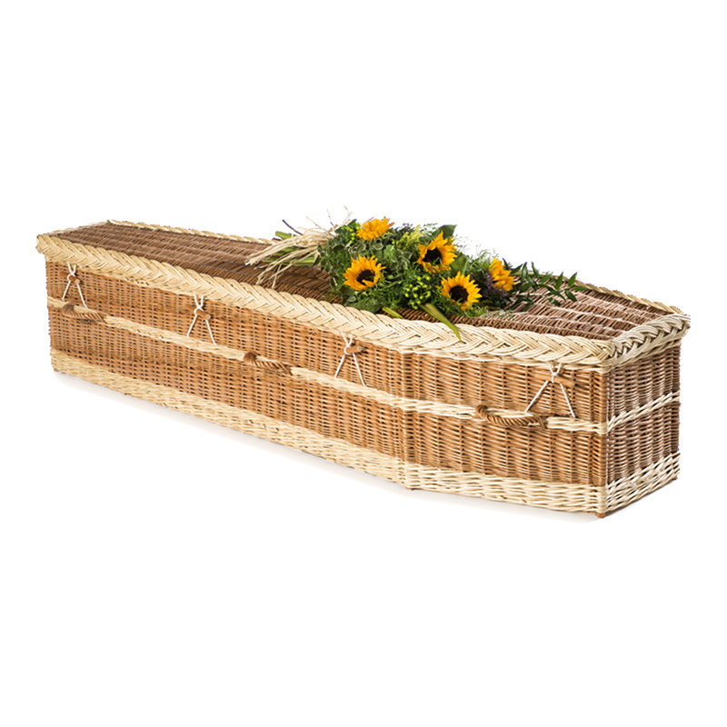 James Funeral Service Willow Coffin with buff and natural finish