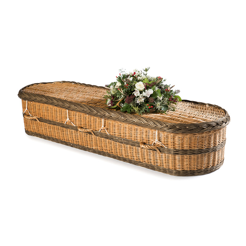 James Funeral Service Willow Coffin with brown buff