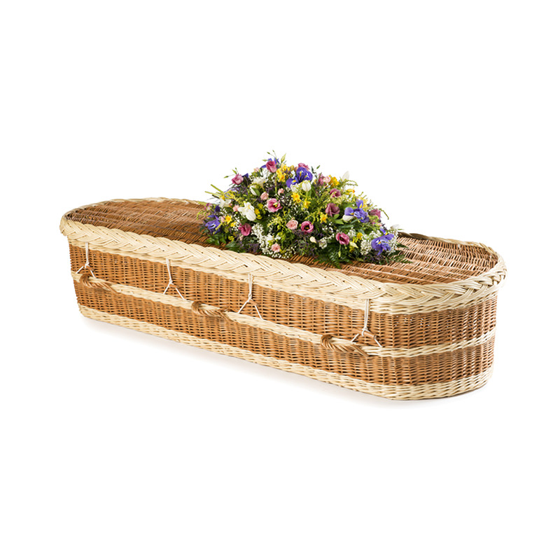 James Funeral Service Round English Willow Coffin with Natural Colouring