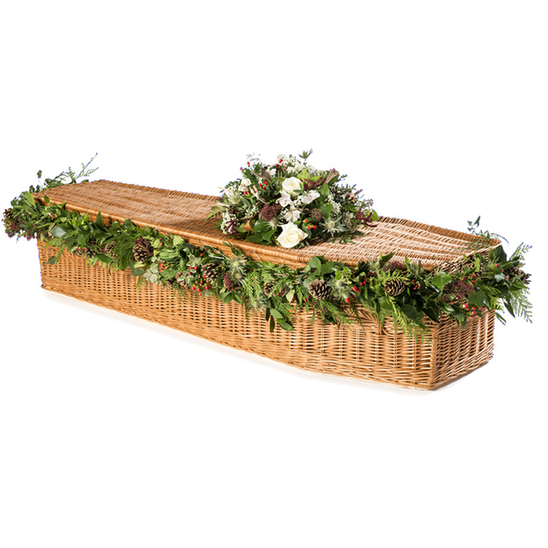 James Funeral Service Highsted Willow Casket - Natural